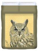 Owl Study Duvet Cover
