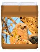 Owlet In A Spring Sunrise Duvet Cover