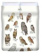 Owls Duvet Cover by Amy Hamilton