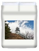 Owl's Head Lighthouse 4761 Duvet Cover