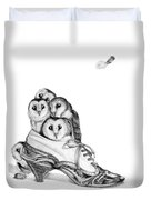 Owls In A Shoe Duvet Cover