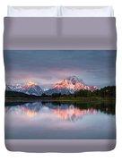 Oxbow Bend Sunrise Duvet Cover