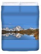 Oxbow Snake River Reflections Duvet Cover