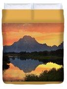 Oxbow Sunset 13 Duvet Cover
