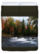 Oxtongue River Ontario Autumn Scenery Duvet Cover