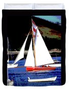 Oyster Boats Duvet Cover