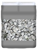 Oyster Shells On Cumberland Island Duvet Cover