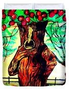 Oz Grumpy Apple Tree Duvet Cover by Jo-Ann Hayden