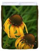 Ozark Yellow Coneflowers Duvet Cover