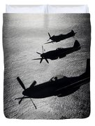 P-51 Cavalier Mustang With Supermarine Duvet Cover