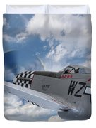 P51 In The Clouds Duvet Cover