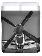 P51 Mustang Vintage Aircraft Duvet Cover