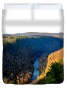 Pa Grand Canyon-pine Creek Duvet Cover