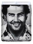 Pablo Escobar Mug Shot 1991 Vertical Duvet Cover