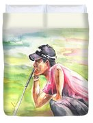 Pablo Larrazabal Winning The Bmw Open In Germany In 2011 Duvet Cover