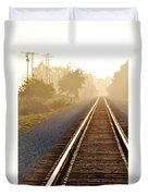 Pacific Coast Starlight Railroad Duvet Cover