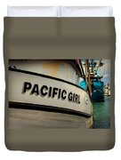 Pacific Girl Duvet Cover