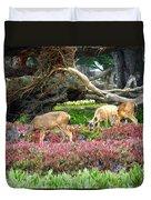 Pacific Grove Deer Feeding Duvet Cover