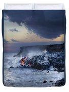 Pacific Lava Flow Duvet Cover