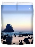Pacific Moonset Duvet Cover