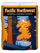 Pacific Northwest, American And Canadian Rockies, National Park Duvet Cover
