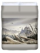 Pacific Northwest Driftwood Shore Duvet Cover by James Williamson
