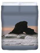 Pacific Northwest Waves Duvet Cover