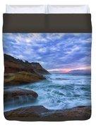 Pacific Ocean At Cape Kiwanda In Oregon Duvet Cover