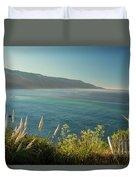 Pacific Ocean, Big Sur Duvet Cover