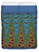 Pacific Ocean From Oregon Abstract Duvet Cover