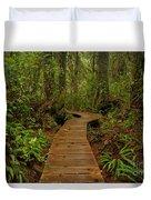 Pacific Rim National Park Boardwalk Duvet Cover