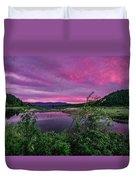 Pack River Sunset Duvet Cover