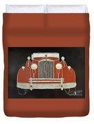 Packard 1937 Red Duvet Cover