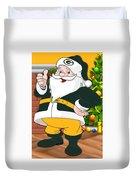 Packers Santa Claus Duvet Cover
