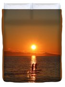 Paddle Boarders Duvet Cover