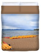Paddle Boat Anyone Duvet Cover