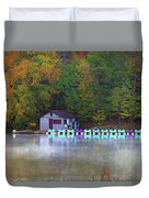 Paddle Boats On The Lake Duvet Cover