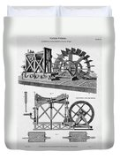 Paddle-driven Beam-engine Suction Pump Duvet Cover
