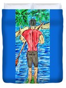 Paddle In Paradise Duvet Cover
