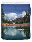 Paddleboarding Duvet Cover