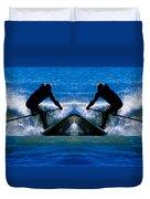 Paddleboarding X 2 Duvet Cover