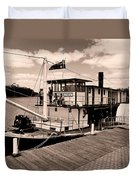 Paddlesteamer Duvet Cover