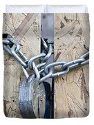 Padlock And Chain Duvet Cover