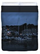 Padstow Harbor At Night Duvet Cover