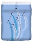 Paf Shedilaerobatic Team Formation Flight Duvet Cover