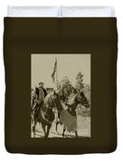 Pageantry In Sepia Duvet Cover