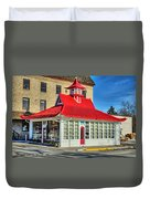 Pagoda Gas Station Duvet Cover