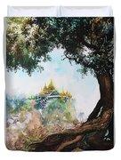 Pagoda On Mountain Duvet Cover