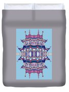 Pagoda Tower Becomes Chinese Lantern 2 Chinatown Chicago Duvet Cover