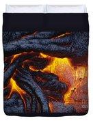 Pahoehoe Lava Texture Duvet Cover